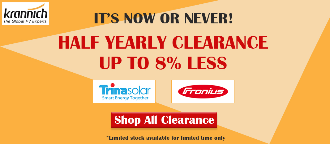 Clearance Offer Slider Krannich Solar