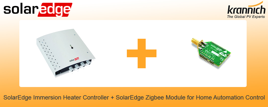 1xSolarEdge Immersion Heater Controller + 1xSolarEdge Zigbee Module for Home Automation Control