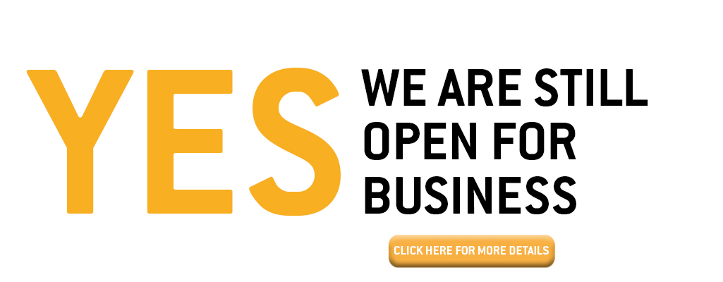 Yes, we are still open for business